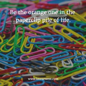orange paperclip